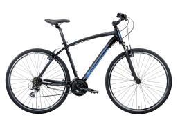 Bici Ibrida Montana X-Cross 28 Uomo TY300 21V Nero Blu