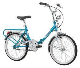 Bici Pieghevole Cinzia Firenze 20 1V Azzurro Bianco