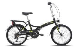 Bici Pieghevole Legnano Folding 20 6V Nero Opaco Verde