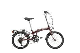 Bici Pieghevole Lombardo Capri 015 20 6V Bordeaux Opaco