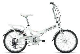 Bici Pieghevole Torpado Cayman TY21 6V Bianco