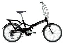 Bici Pieghevole Torpado Cayman TY21 6V Nera Opaco