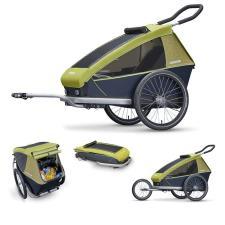 Carrello Bici Croozer per bambini Kid 1 posto Verde Limone