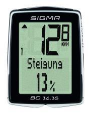 Ciclocomputer Sigma BC 14.16 con cavo