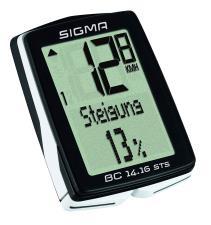 Ciclocomputer Sigma BC 14.16 STS CAD senza filo con sensore cadenza