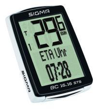 Ciclocomputer Sigma BC 16.16 STS CAD senza filo con kit cadenza