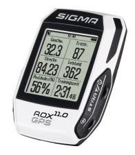 Ciclocomputer Sigma Rox GPS 11.0 Set Bianco