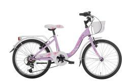 City Bike Bambina Montana Bloomy 20 6V con portapacchi