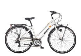 City Bike Bianchi Spillo Rubino Donna 21V Bianco Perlato