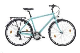 City Bike Bianchi Spillo Rubino Uomo 21V Celeste Lucido