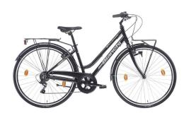 City Bike Bianchi Spillo Turchese DS Lady 6V Nero Lucido