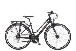 City Bike Bianchi Topazio Donna 24V Nero Line Rossa