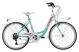 City Bike Cinzia Liberty 24 6V Acquamarina Bianco