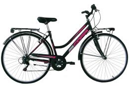 City Bike Coppi Beverly 28 Donna 6V TZ500 Nero Porpora