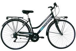 City Bike Coppi Beverly 28 Donna 6V TZ500 Nero Verde