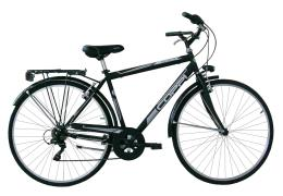 City Bike Coppi Beverly 28 Uomo 6V TZ500 Nero