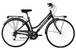 City Bike Coppi Manhattan 28 Donna TZ500 6V Nero