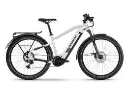 City Bike Eletrica Haibike Trekking 8 Bianco Sporco