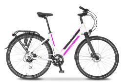 City Bike Elettrica Argento Omega 28 Donna Fucsia