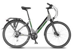City Bike Elettrica Argento Omega 28 Donna Verde