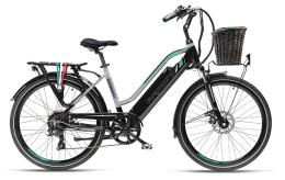 City Bike Elettrica Armony Cortina 26 7V Nero Argento