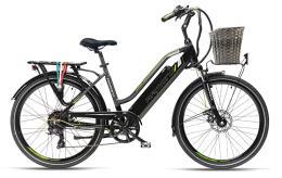 City Bike Elettrica Armony Cortina 26 7V Nero Grigio