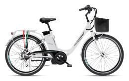 City Bike Elettrica Armony Firenze 26 6V Bianco