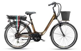 City Bike Elettrica Armony Firenze ADV 26 6V Marrone Titanio