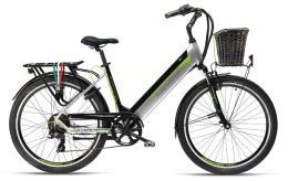 City Bike Elettrica Armony Riccione Evo 28 7V Argento Nero