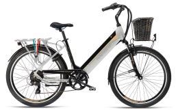 City Bike Elettrica Armony Riccione Evo 28 7V Nero Grigio Betulla