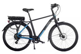 City Bike Elettrica Brinke Life Sport 28 7V Bafang Nero Blu