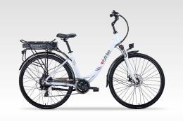 City Bike Elettrica Brinke Paris 28 7V Bafang Bianco