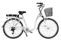 City Bike Elettrica Brinke Venice 28 7V Bafang Bianco