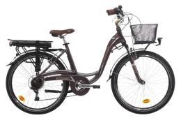 City Bike Elettrica Cinzia Sfera 28 Donna 7V Bafang 250W Tabacco