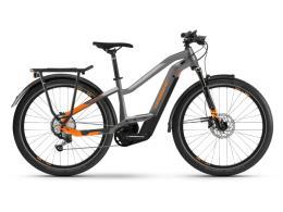 City Bike Elettrica Haibike Trekking 10 Lowstandover Titanio