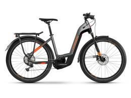 City Bike Elettrica Haibike Trekking 10 Lowstep Titanio