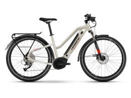 City Bike Elettrica Haibike Trekking 4 LowStandover Deserto