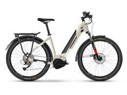 City Bike Elettrica Haibike Trekking 4 LowStep Deserto Bianco
