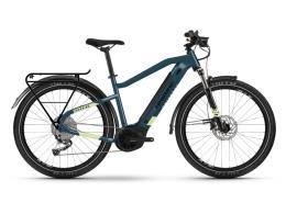 City Bike Elettrica Haibike Trekking 5 Blu Canarino