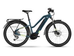 City Bike Elettrica Haibike Trekking 5 lowStandover Blu