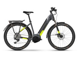 City Bike Elettrica Haibike Trekking 6 Lowstep Grigio