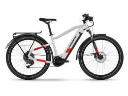 City Bike Elettrica Haibike Trekking 7 Grigio Rosso