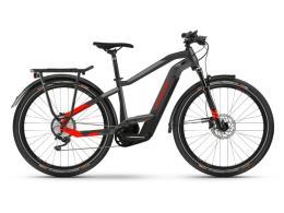 City Bike Elettrica Haibike trekking 9 Antracite Rossa