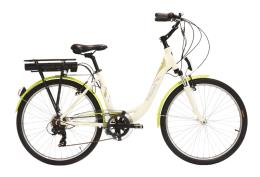 City Bike Elettrica Italwin Nuvola 24 14 Ah Bianca