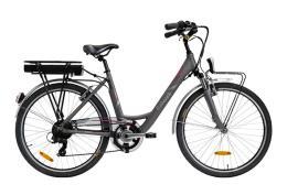 City Bike Elettrica Italwin Nuvola 24 8.8 Ah 36V Grigia