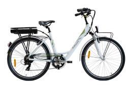 City Bike Elettrica Italwin Nuvola 26 11.6Ah 36V Bianca