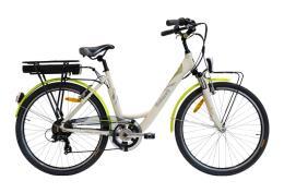 City Bike Elettrica Italwin Nuvola 26 8,7Ah 36V Crema