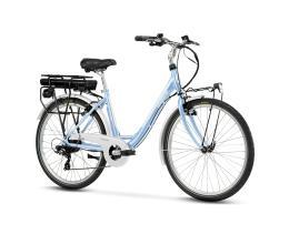 City Bike Elettrica Lombardo Levanzo City 26 7V Celeste Bianco