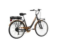City Bike Elettrica Lombardo Levanzo Sport 26 7V Nero Rame