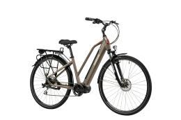 City Bike Elettrica Lombardo Maratea Donna 8V Marrone